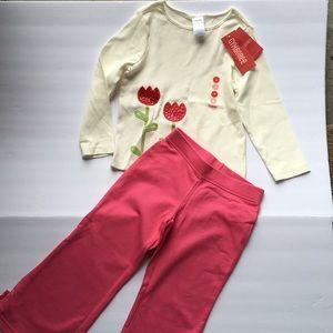 Gymboree girl top pants set NWT new 4